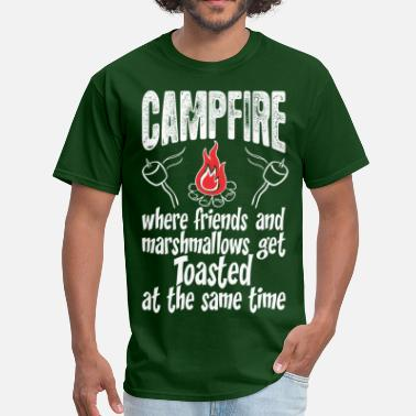 Campfire Marshmallow Campfire Friends And Marshmallows Get Toasted - Men's T-Shirt
