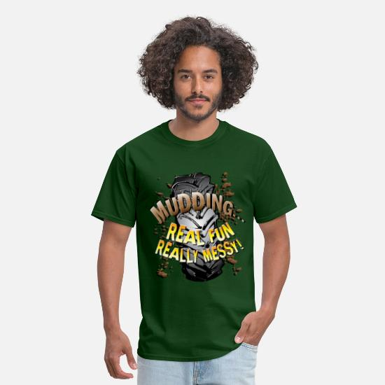 Ford T-Shirts - Mud Trucks Messy Fun - Men's T-Shirt forest green