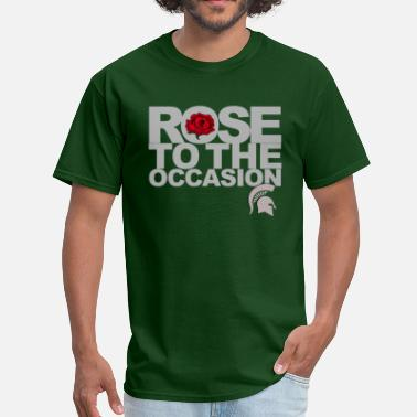 Rose Bowl Spartans Rose Silver.png - Men's T-Shirt