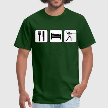 Picto Picto - Eat, Sleep, Fence - Men's T-Shirt