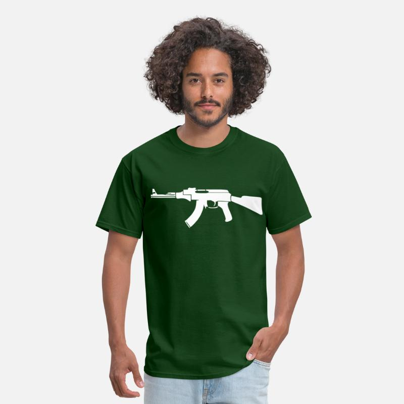 Ak T-Shirts - AK-47 - Men's T-Shirt forest green