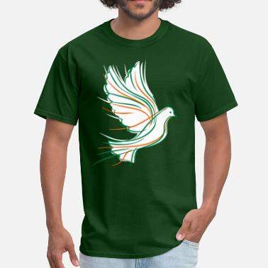 Peace Dove Fly Flying dove - Men's T-Shirt