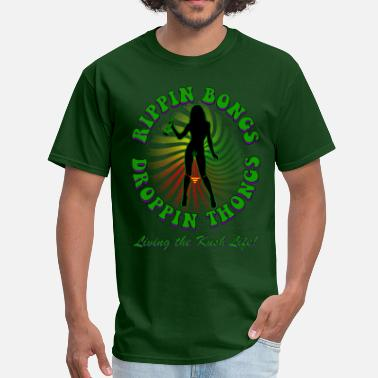 Bong Quotes Rippin bongs-2 (solid) - Men's T-Shirt