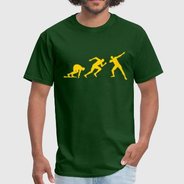 Bolt Pose Evolution Usain Bolt - Men's T-Shirt