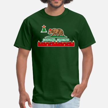 Brown Bear California Christmas - Men's T-Shirt