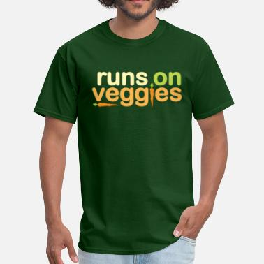 Vegan Power Runs On Veggies - Men's T-Shirt