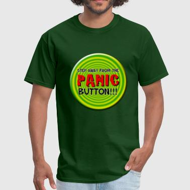 Hidden Message Panic button - Men's T-Shirt