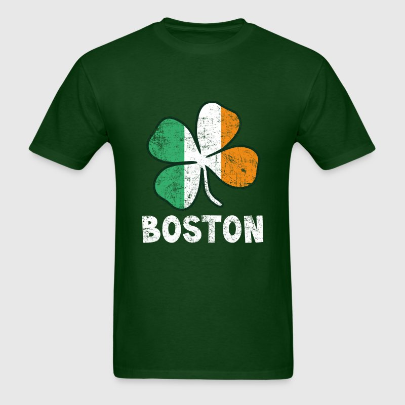 Boston Irish Flag - Men's T-Shirt