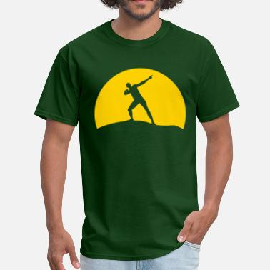Bolt Pose Usain Bolt sunset - Men's T-Shirt