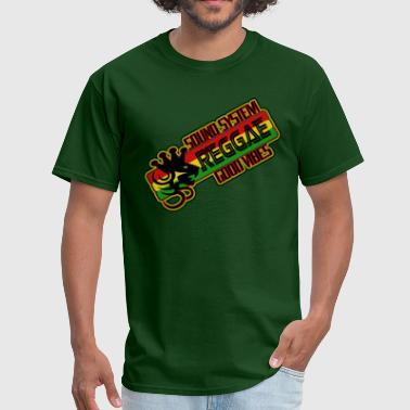 sound system reggae good vibes - Men's T-Shirt