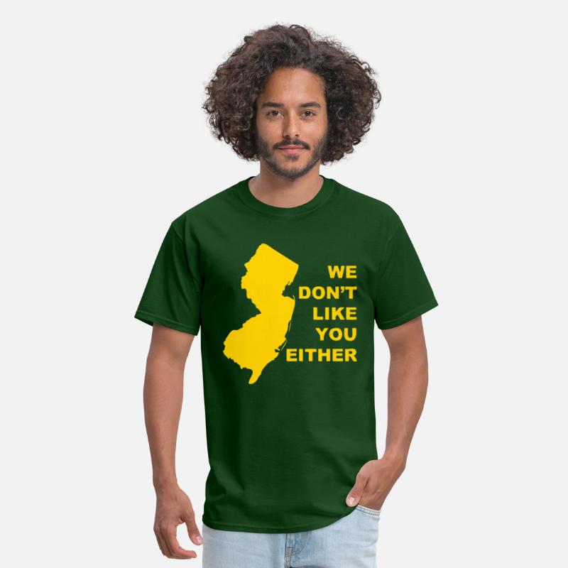 New Jersey T-Shirts - NJ Motto - Men's T-Shirt forest green