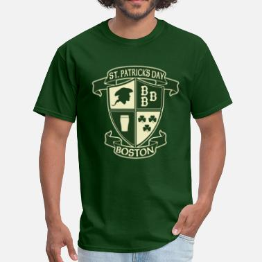 Boston St Patricks Day Apparel St. Paticks Day Boston Irish Crest Clothing Shirts - Men's T-Shirt