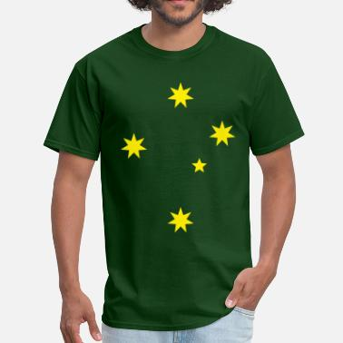 Green And Gold Aussie Southern Cross Tee - Men's T-Shirt