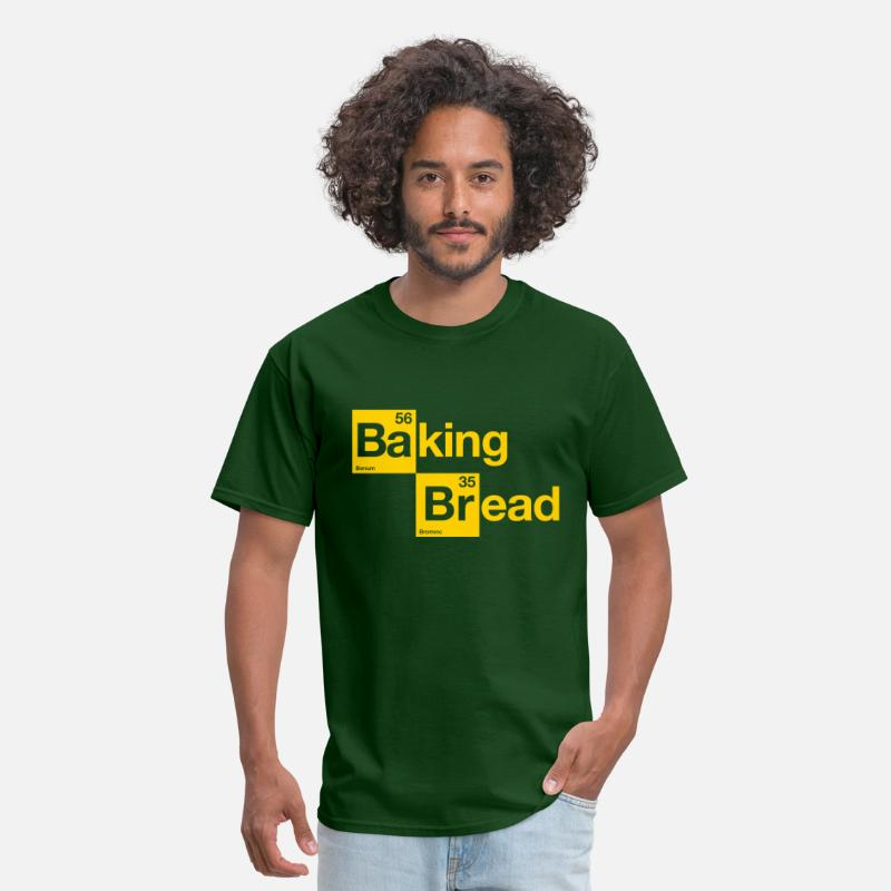 Bread T-Shirts - Baking Bread - Men's T-Shirt forest green