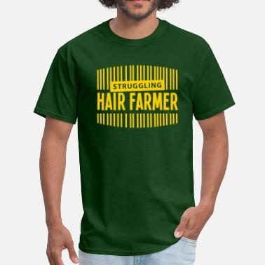 Hair Loss Struggling Hair Farmer - Men's T-Shirt