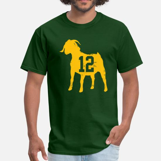 best service 90ecd 1e48f Aaron Rodgers GOAT Men's T-Shirt - forest green