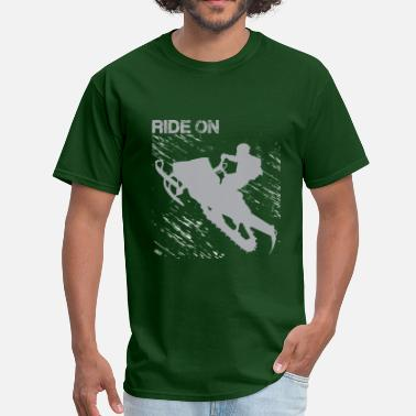 Riding Snowmobile Snowmobile Riding - Men's T-Shirt