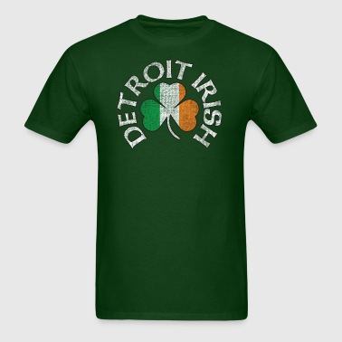 Detroit Irish Shamrock Apparel - Men's T-Shirt
