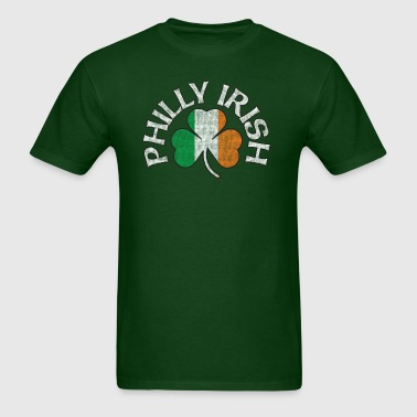 Philly Irish Shamrock Flag Apparel - Men's T-Shirt