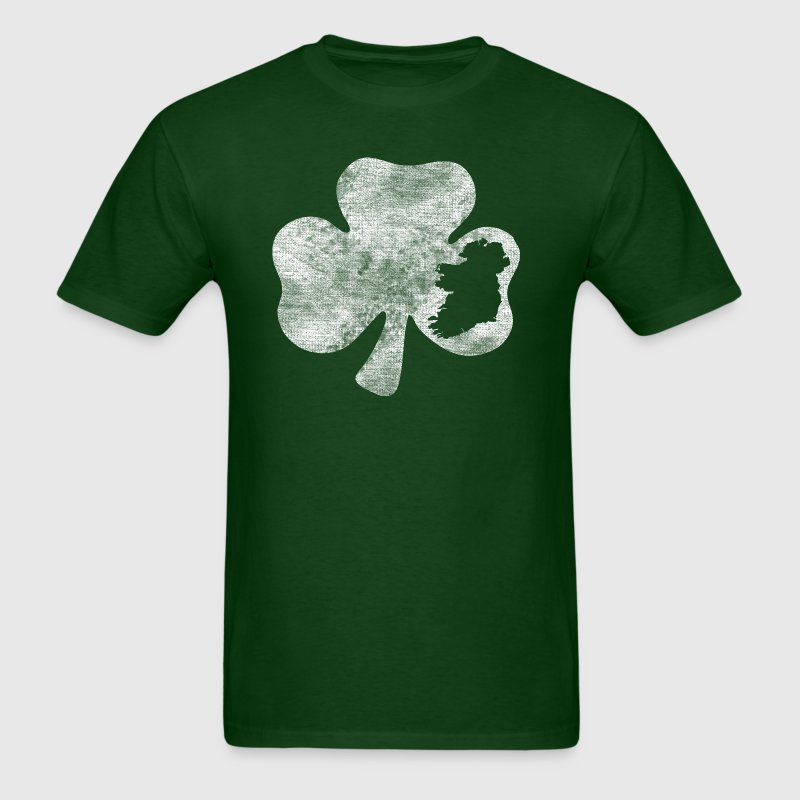 Distressed Ireland Shamrock Irish Celtic Apparel - Men's T-Shirt