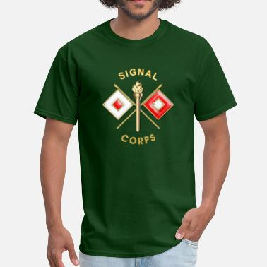 Military Insignia Signal Corps Branch Insignia - Men's T-Shirt