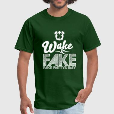 Mens Wake & Fake Graphic Tee - Men's T-Shirt