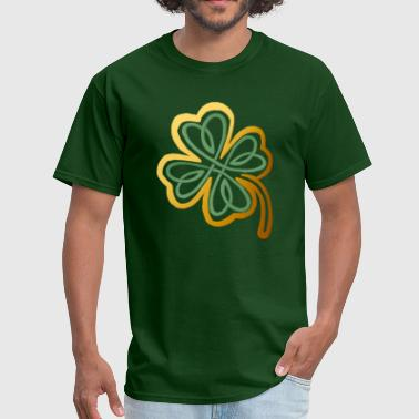 Green N Gold Shamrock   - Men's T-Shirt