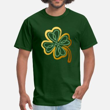 Green & Gold Green N Gold Shamrock   - Men's T-Shirt