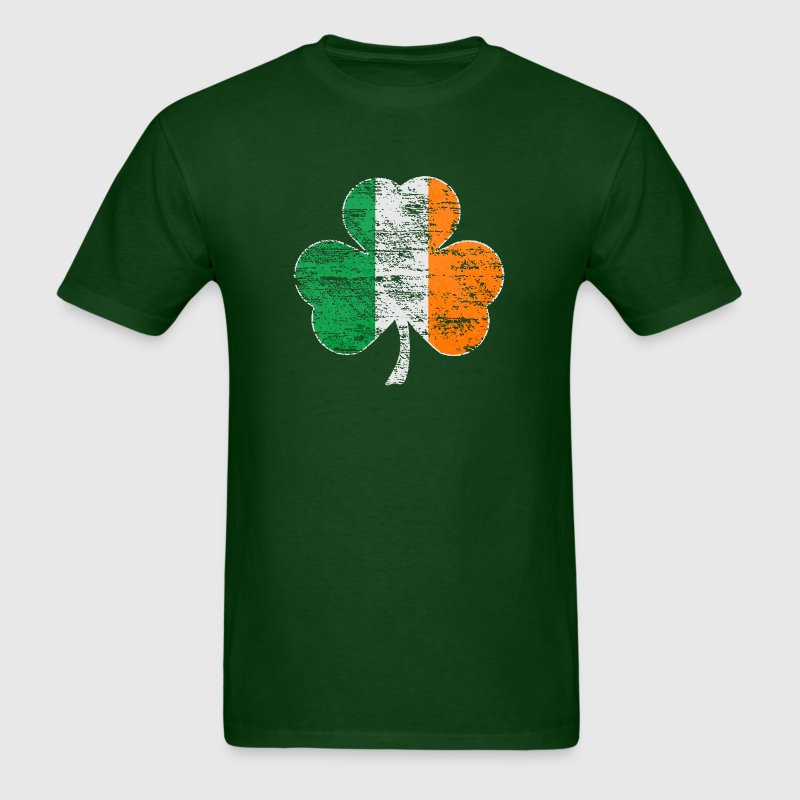 Vintage Distressed Irish Flag Shamrock - Men's T-Shirt