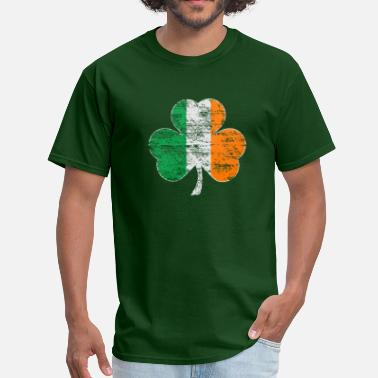 a63d7f893 St Patricks Day Vintage Distressed Irish Flag Shamrock - Men's ...