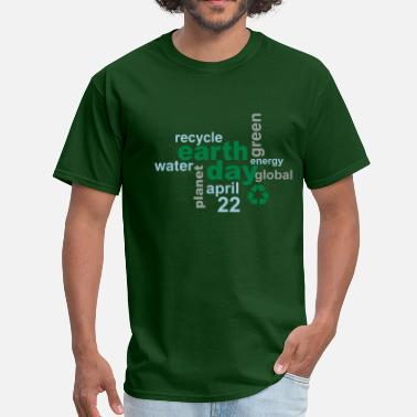 Earth Day Earth Day Words - Men's T-Shirt