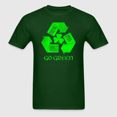 Drink Piss Repeat Go Green Tees - Men's T-Shirt