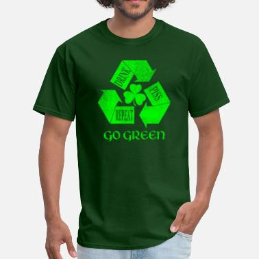 Ireland Drink Piss Repeat Go Green Tees - Men's T-Shirt