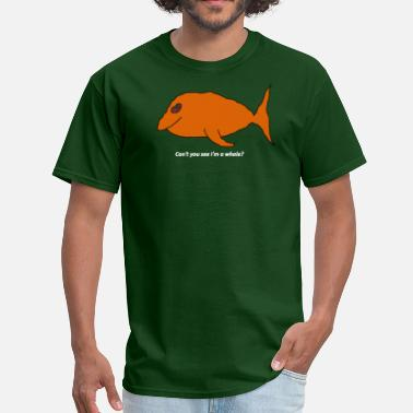 Mspaint Can't you see I'm a whale? (white text) - Men's T-Shirt