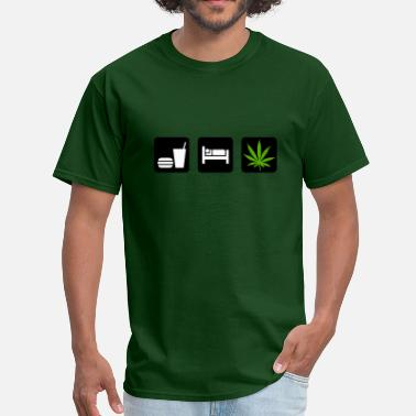 Smoke Marijuana Eat Sleep Smoke Marijuana - Men's T-Shirt