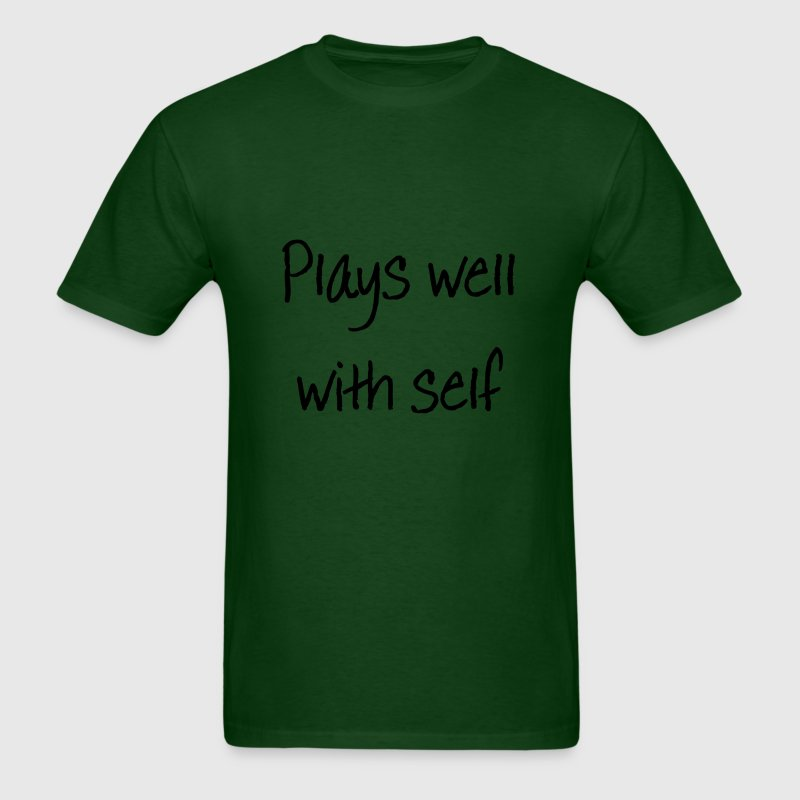 Plays Well With Self - Men's T-Shirt
