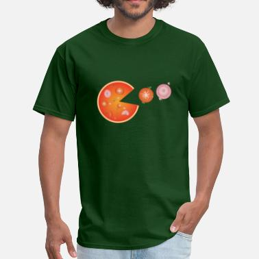 Pizza Man Pizza Pac-Man - Men's T-Shirt