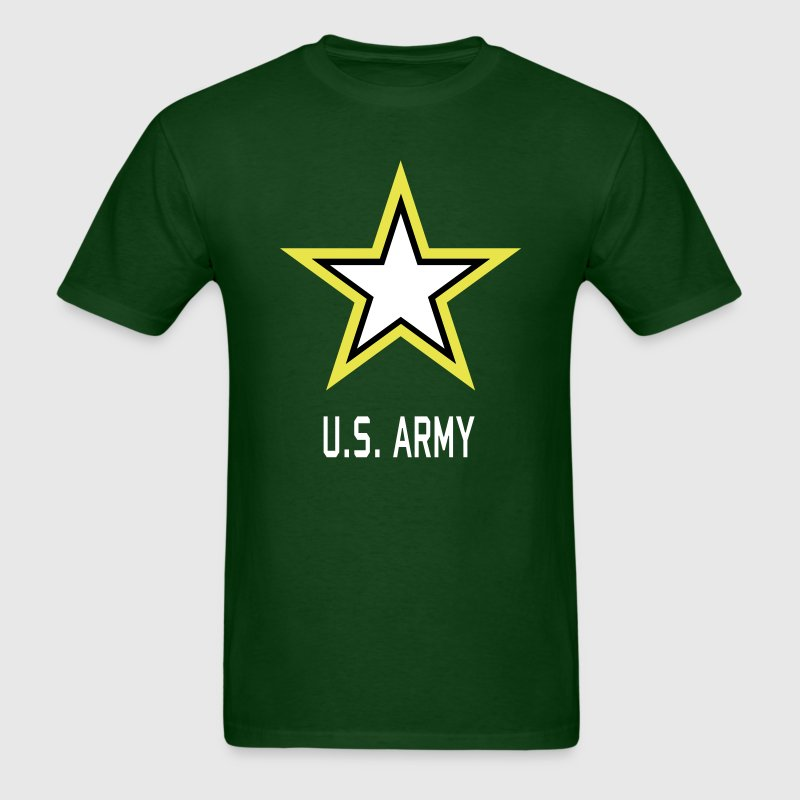 Army Star U.S. military Logo in 3 Colors - Men's T-Shirt