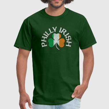 Philadelphia Irish Apparel Philly Irish Shamrock Flag Apparel - Men's T-Shirt