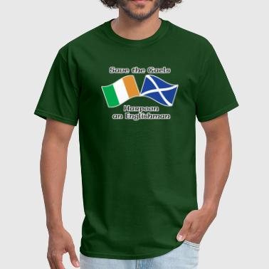 Save the Gaels, harpoon an Englishman - Men's T-Shirt