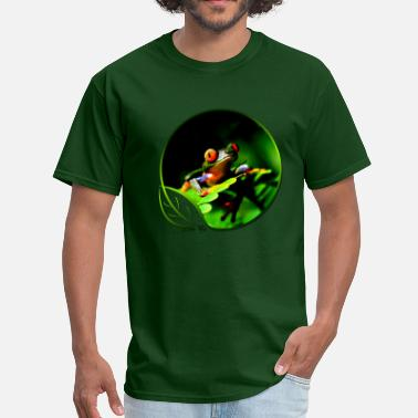 Frog Green Life Tree Frog - Men's T-Shirt