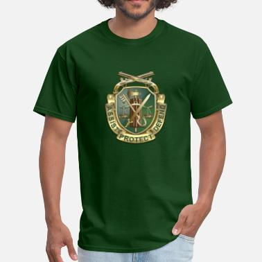 Military Police MP Regimental Insignia - Men's T-Shirt