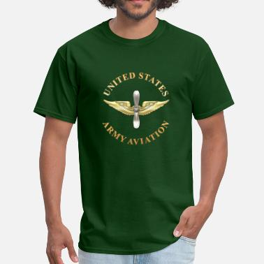 Us Army Logo Aviation Branch Plaque - Men's T-Shirt