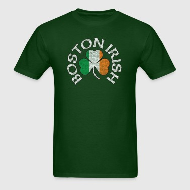 Boston Irish Shamrock Flag Clothing  - Men's T-Shirt