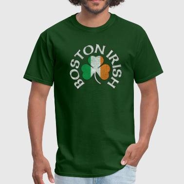 Boston Irish Boston Irish Shamrock Flag Clothing  - Men's T-Shirt