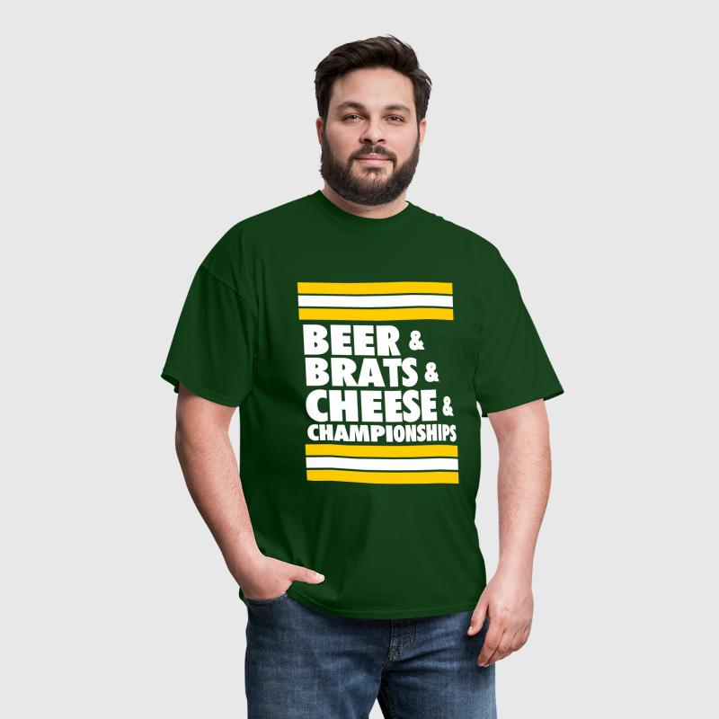 Beer & Brats & Cheese & Championships - Men's T-Shirt