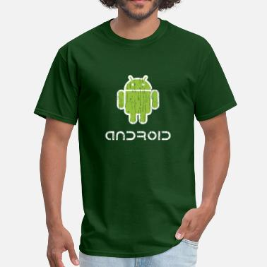 Android Distressed Android - Men's T-Shirt