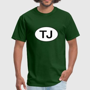 Jeep TJ Wrangler Oval - Men's T-Shirt