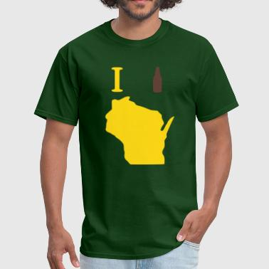 I beer Wisconsin - Men's T-Shirt