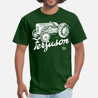 Tractor Classic Ferguson TE20 script and illustration - Men's T-Shirt
